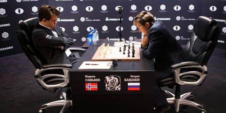 Tweede remise bij Carlsen en Karjakin