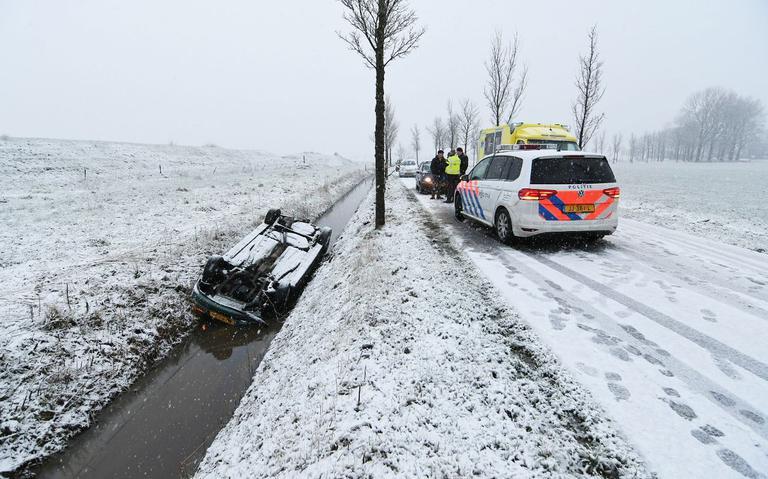 Sneeuwval leidt tot ongelukken.