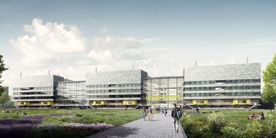 Feringa Building herbergt hoogwaardige technische installaties, die een investering vergen van 91 miljoen euro. In totaal kost het complex een slordige 200 miljoen euro. Artist impressie: Rijksuniversiteit Groningen