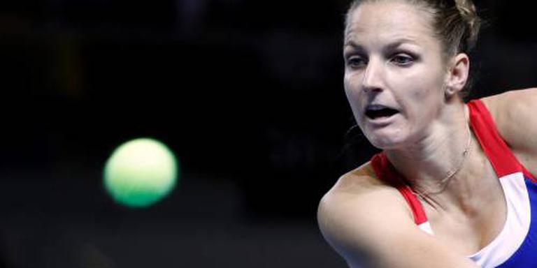 Frankrijk en Tsjechië in evenwicht in Fed Cup