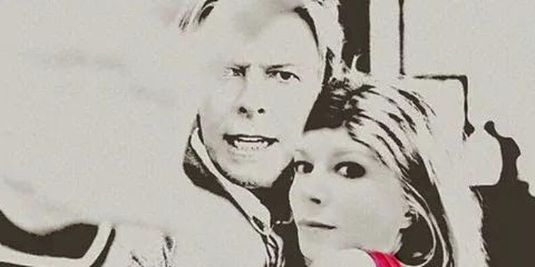 Wendy Moerman photoshopte zichzelf naast Bowie