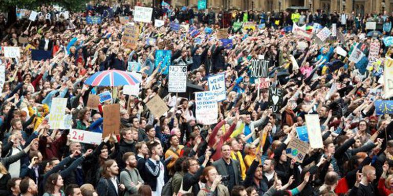 Enkele duizenden bij anti-brexit protest