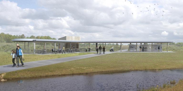 Impressie van het nieuwe informatiecentrum op het Holtingerveld.