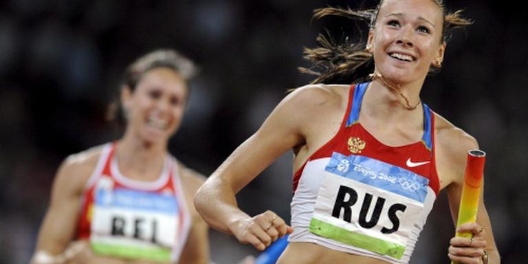 Russische atletes raken goud Peking kwijt