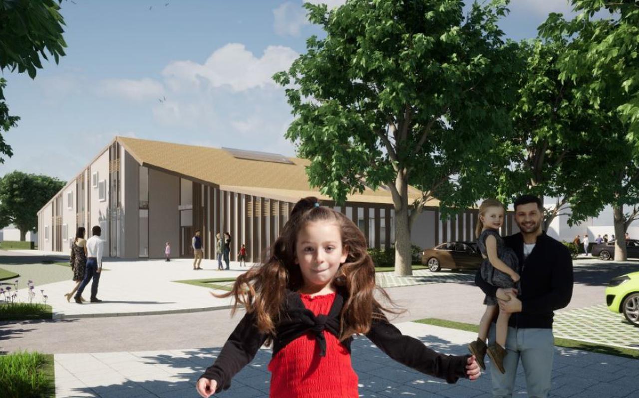 Zo gaat de nieuwe basisschool er ongeveer uitzien.
