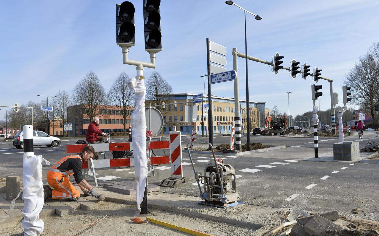 De gemeente hoopt dat het paasweekeinde in het centrum van Emmen, met de nieuwe verkeersmaatregelen, soepeltjes verloopt. Foto: Boudewijn Benting.