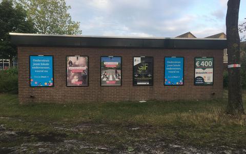 Centercom Buitenreclame mag wisselframes in Emmen laten hangen