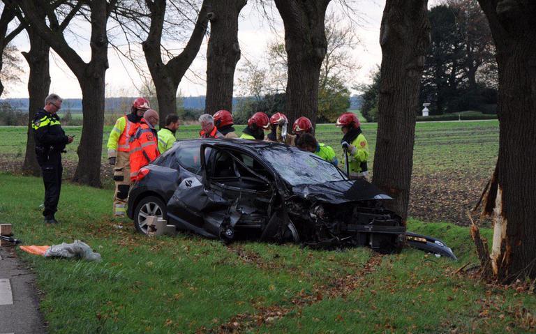 Bestuurder gewond bij botsing tegen boom in Nieuw-Beerta.