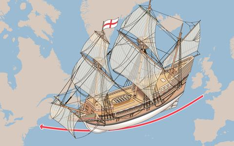In Beeld: De Mayflower