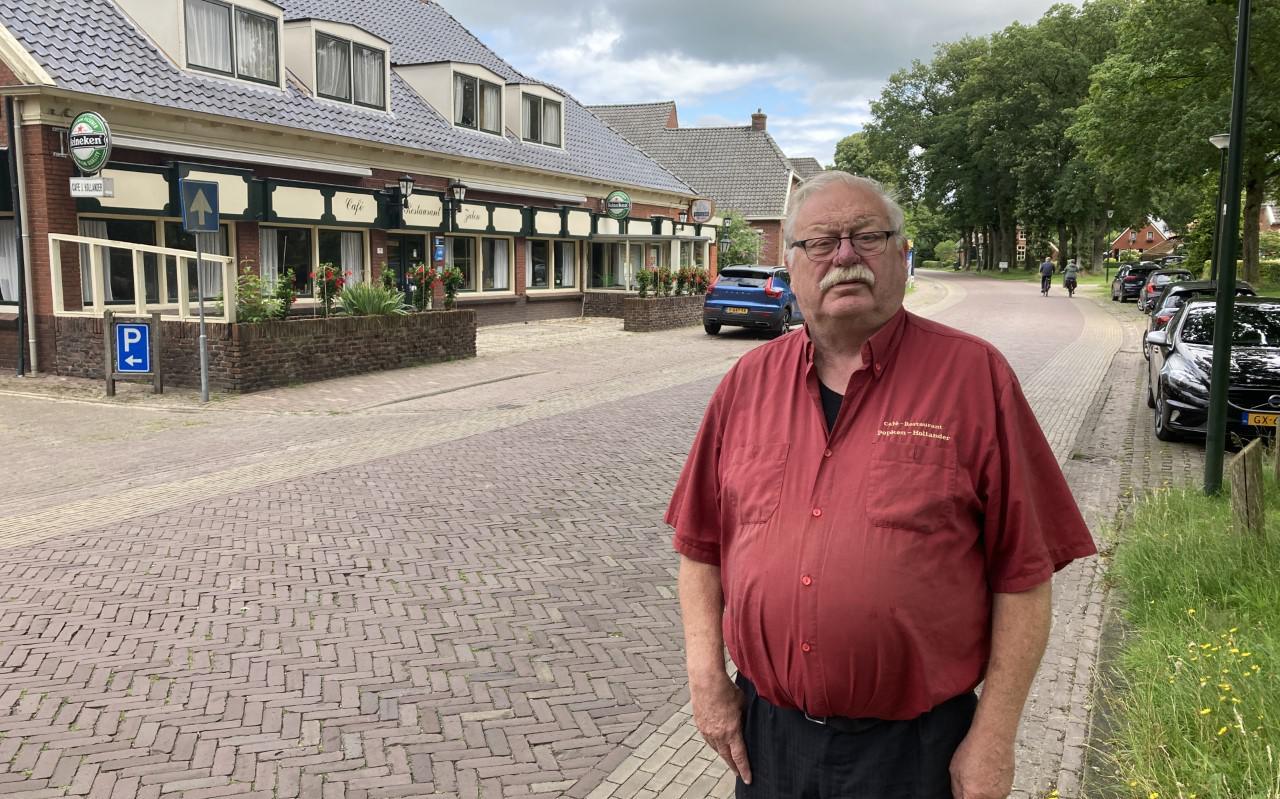 Jan Pieter Sikkema heeft zijn café-restaurant Popken-Hollander in Anloo te koop gezet.