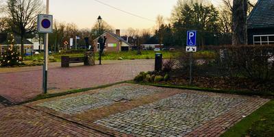 Het huidige gat, waar tot maart 2017 de monumentale boerderij met bijgebouwen stond. Foto: Gemeente Borger-Odoorn