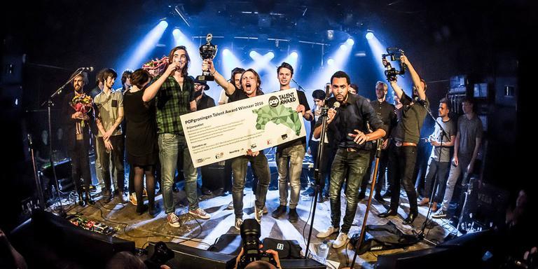 The Movement wint de POPgroningen Talent Award. Foto Jan Lenting