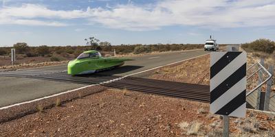 De Green Lightning in de outback van Zuid-Australië.