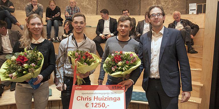 Marieke Tienstra, Chris Huizinga, Marcel Bosker en Paul de Rook Foto Gemeente Groningen