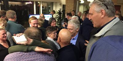 De vreugde is groot bij Gemeentebelangen in Noordenveld. Foto: DvhN