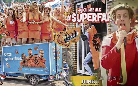 KNVB is boos op Jumbo vanwege televisiereclame met Snollebollekes (want dat zou het lijflied zijn van de OranjeLeeuwinnen)