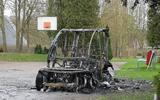 Heerdmobiel in wijk Beijum in Groningen gaat in vlammen op