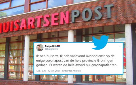 Doktersdienst Groningen in verlegenheid door tweet van huisarts over corona: 'Dit is misleidend'