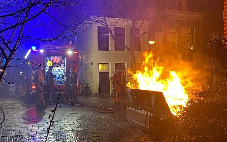 Brand in gevulde bouwcontainer veroorzaakt flinke rookoverlast in Groningen
