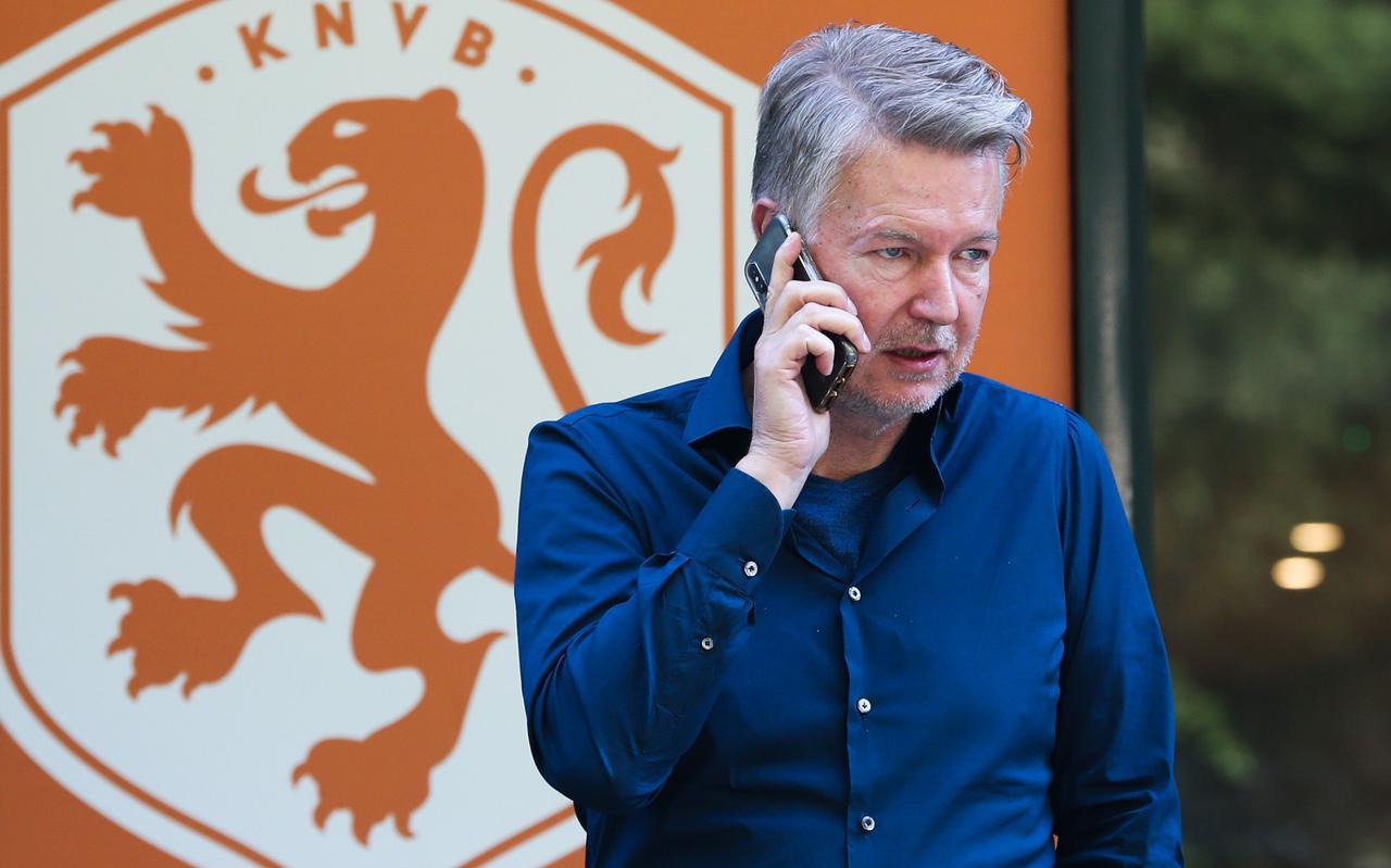 Ronald Lubbers afgelopen dinsdag tijdens het onderhoud met de KNVB.