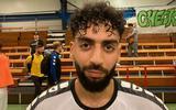 Mehdi Charaf-Eddine, aanvaller van Leekster Eagles die eenmaal scoorde in Egmond