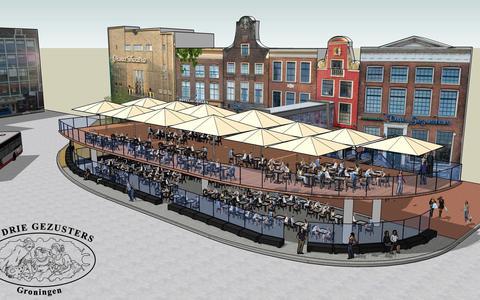 De Drie Gezusters wil terras met twee verdiepingen bouwen. Horecamagnaat Laurens Meyer: 'Zo kunnen we meer mensen bedienen'