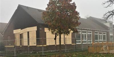 Bij de brand op oudejaarsavond werd één lokaal van de Juliana van Stolbergschool verwoest.