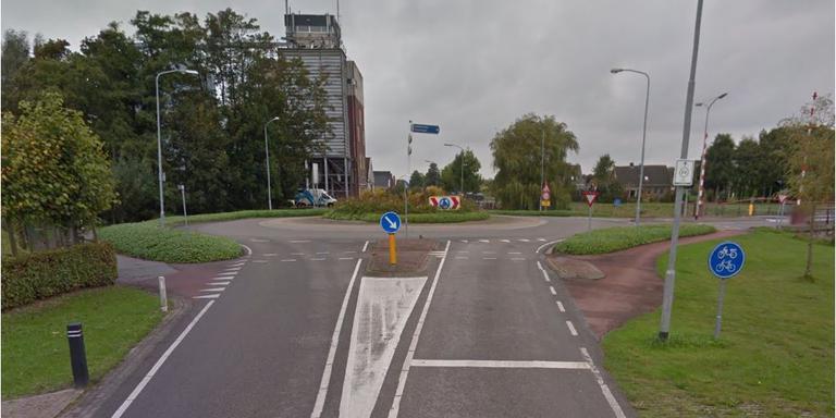 De rotonde aan de Havenweg bij Uithuizen. FOTO GOOGLE STREETVIEW