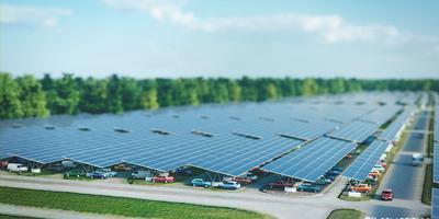 Zonnepanelen bij Lowlands. Afbeelding: Solarfields