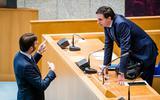 Steven van Weyenberg (D66) en Demissionair Minister Wopke Hoekstra van Financiën (CDA) voorafgaand aan een debat over de Voorjaarsnota 2021.