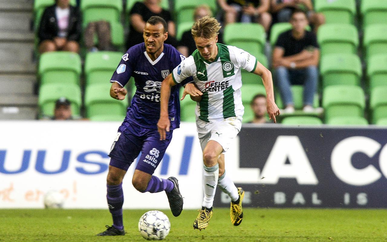 Remco Balk tijdens de voorbereiding van FC Groningen afgelopen zomer.