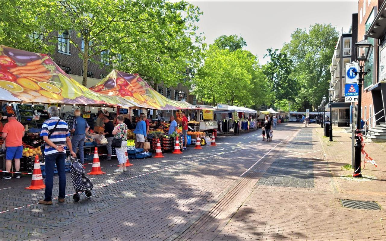 De markt in Assen. Foto: DVHN