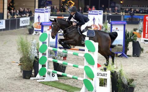 Ruiters zetten springpaarden in de etalage in Zuidbroek