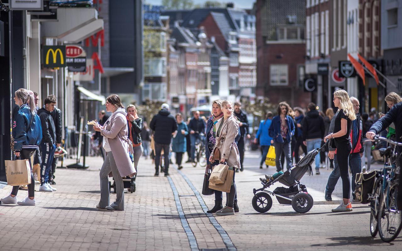 De Herestraat van Groningen in april 2020.