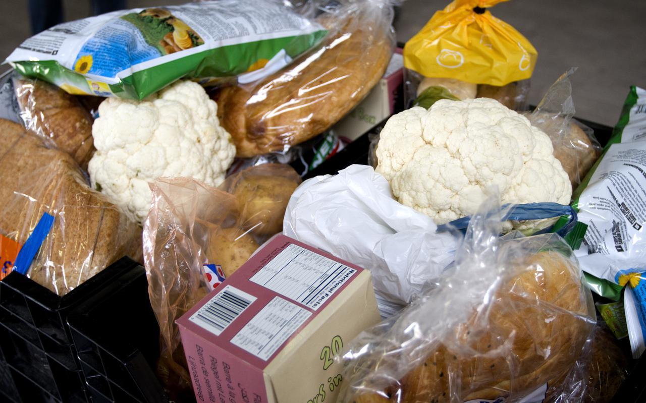 Voorbeeld van een voedselpakket