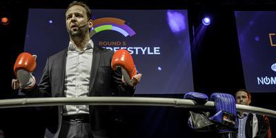 Tim Rademacker van CFK tijdens de finale van de Industry Challenge in Delfzijl.