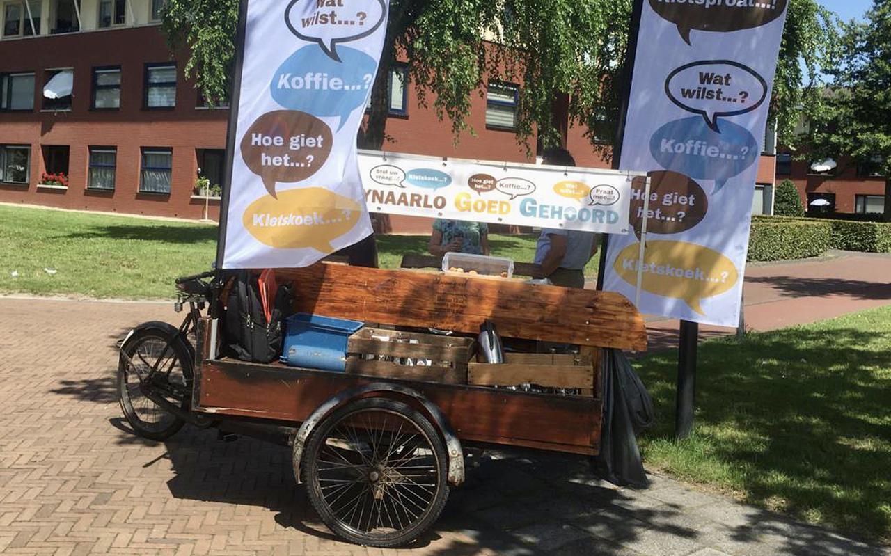 De bakfiets van Tynaarlo Goed Gehoord met koffie, thee en ranja.