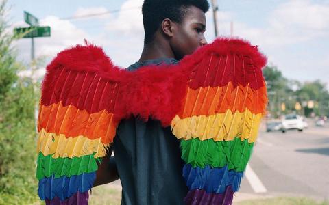 Black Pride. Een van de foto's die te zien is tijdens de tentoonstelling.