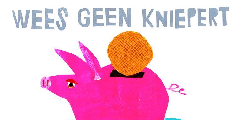 Nieuwjaarskaart 'Wees geen kniepert'. Illustratie Nienke Siegers