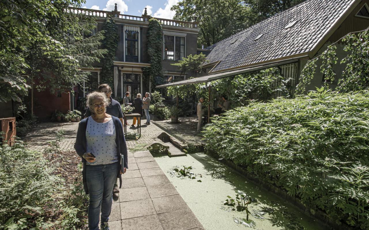 De majestueuze villa Oosterhouw trok flink wat bekijks tijdens de open dag.