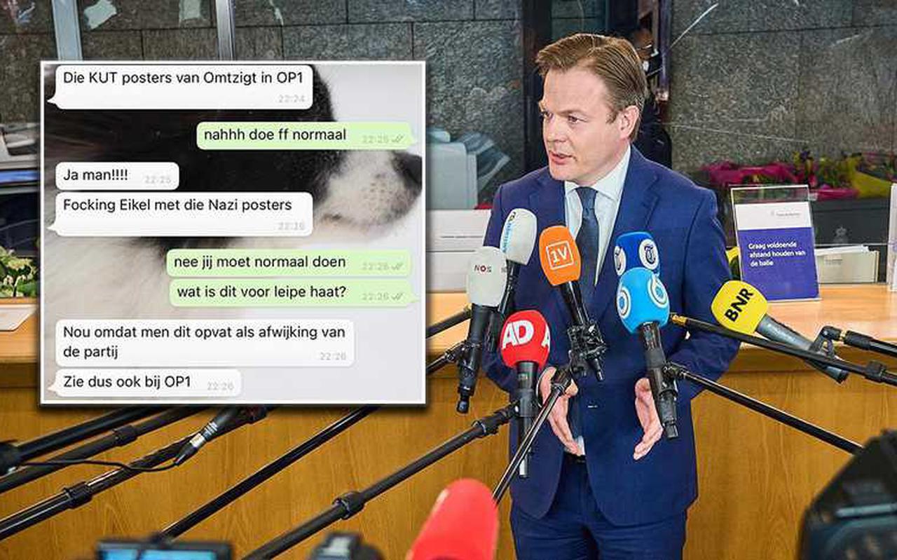 Partijleden van het CDA over Omtzigt in appjes.