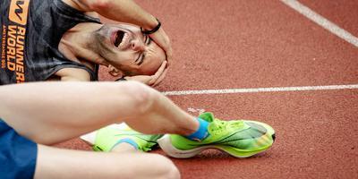Deelnemers van de Amsterdam Marathon zijn kapot na hun deelname