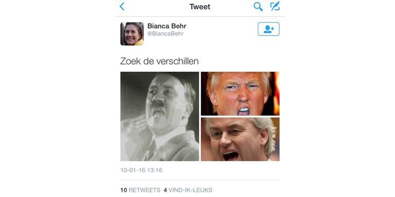 De verwijderde tweet
