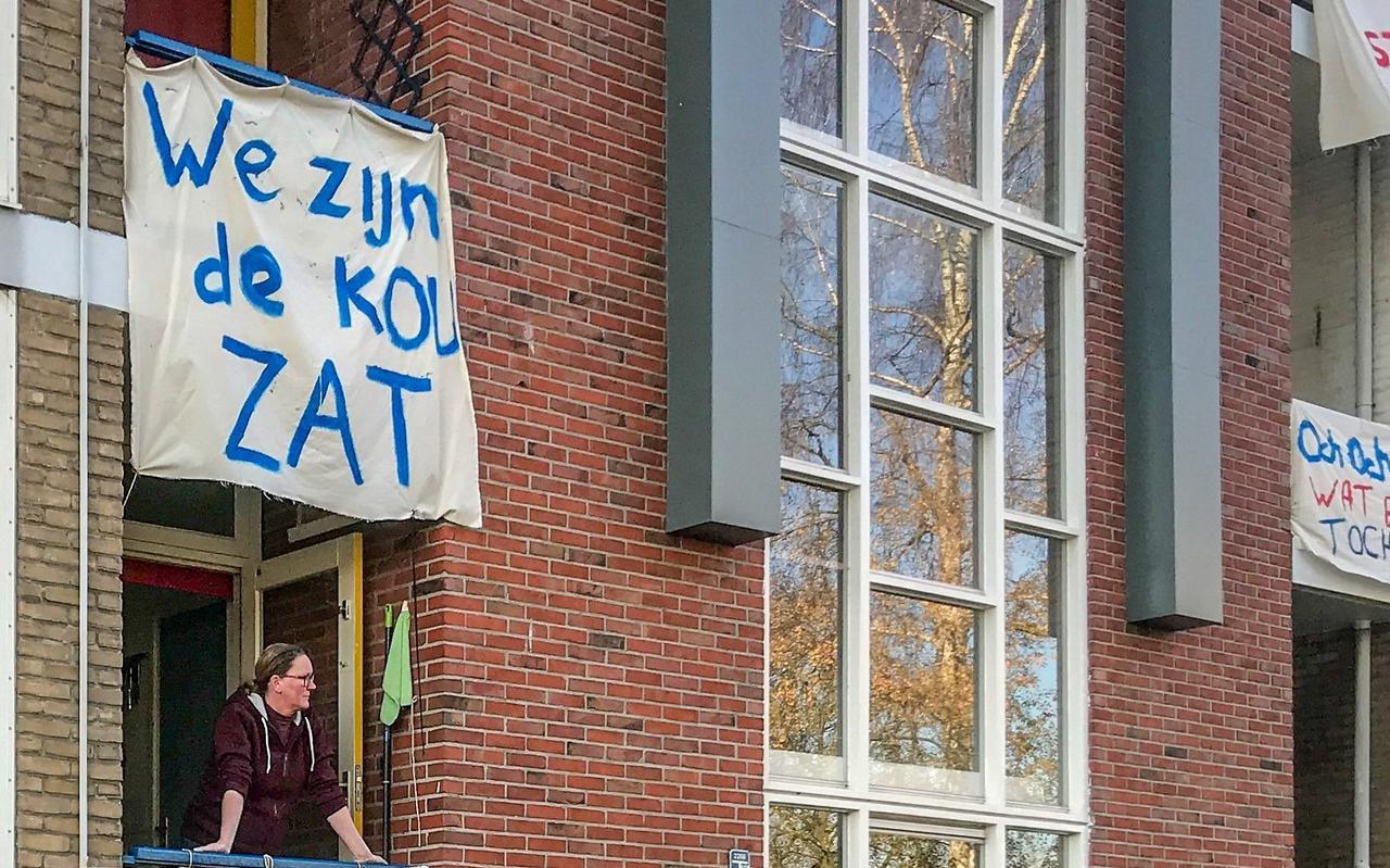 Sociale huurwoningen, zoals deze in Selwerd, zijn hard aan renovatie toe.