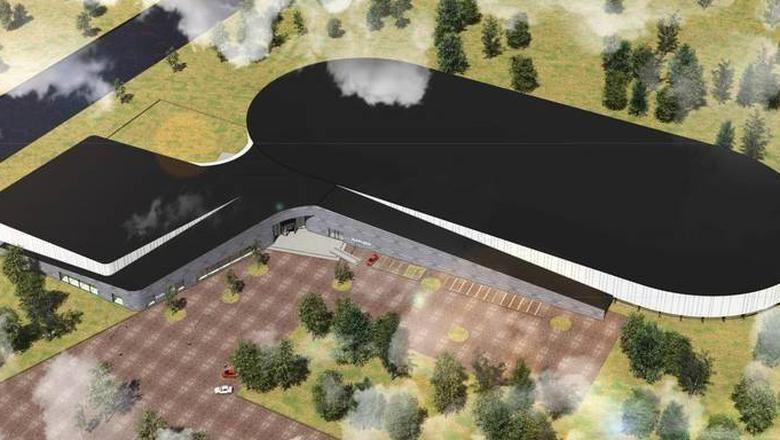 Impressie van miljoenenproject ijsbaan met zwembad dat niet doorgaat