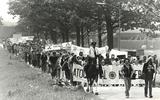In Gasselte demonstreerden mensen in 1979 tegen opslag van kernafval in de zoutkoepels.