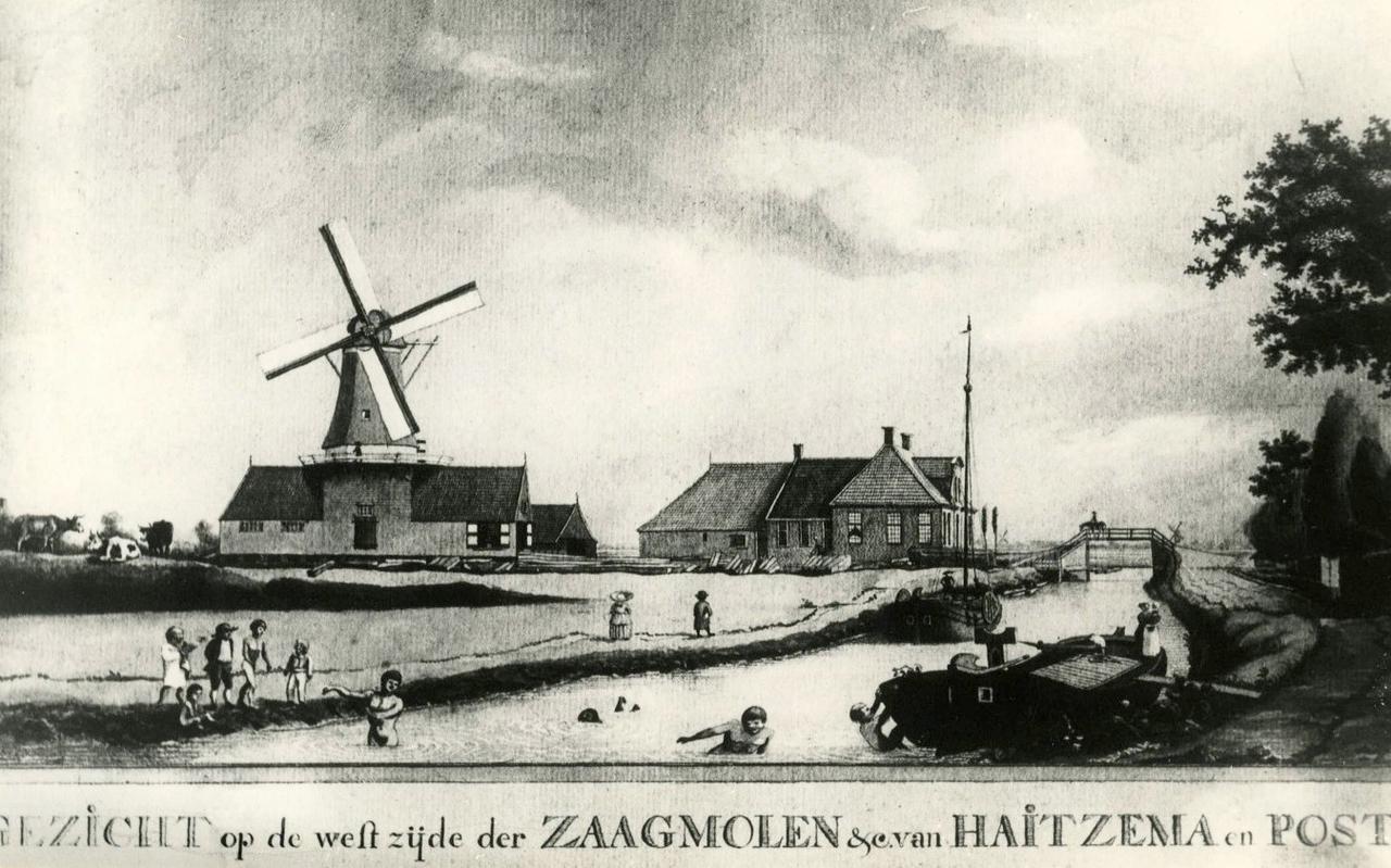 De houtzagerij van burgemeester Post van Winschoten, daar waar nu een vestiging van Mc Donald's staat.
