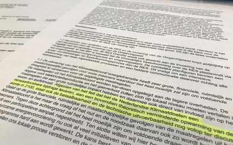 Ambtenaren schreven in een adviesnota dat Aa en Hunze de opwarming van het klimaat feitelijk niet onderschrijft
