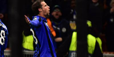 Hans Hateboer viert zijn eerste Champions League-doelpunt.