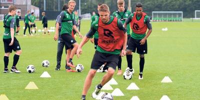 Jos Hooiveld in actie tijdens een training. FOTO JAN KANNING